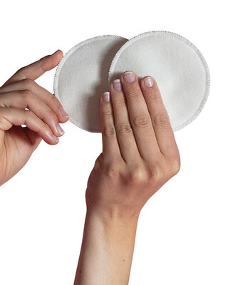 Cariwell 6 x Washable Breast Pads-One size White