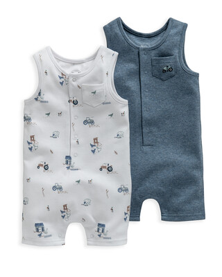 Farm Rompers 2 Pack
