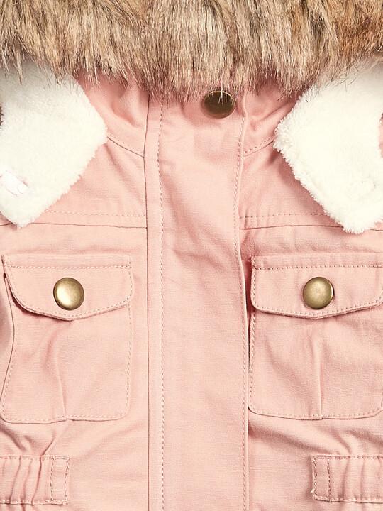 معطف باركر 2 في 1 - وردي image number 3
