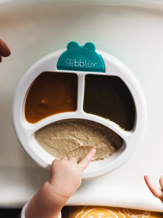 طبق للحفاظ على حرارة الطعام بلاتو من بيبي لوف - أزرق image number 4