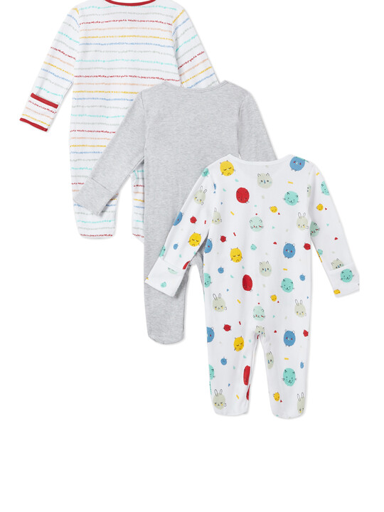3Pack of  BEAR Sleepsuits image number 2