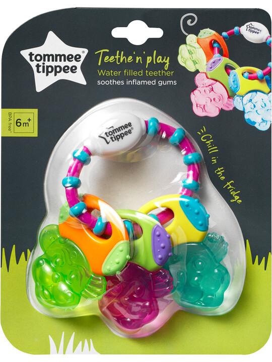 حلقة تسنين تيث اند بلاي مليئة بالماء من تومي تيببي للأطفال من 6 شهور فأكثر - متعددة الألوان image number 2