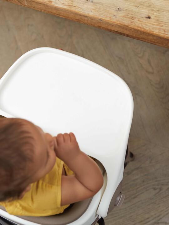 مقعد داعم للطفل الصغير لمائدة الطعام بصينية قابلة للفصل - بني image number 6