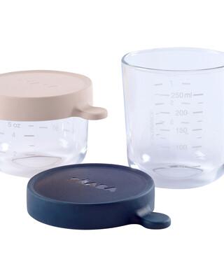 Beaba Conservation Jar Glass Set of 2 150ml /250ml
