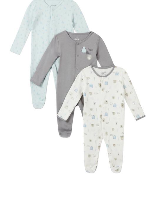 3Pack of  BEAR & TREE Sleepsuits image number 1