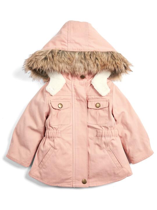 معطف باركر 2 في 1 - وردي image number 1