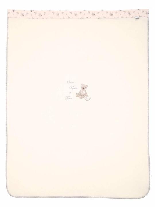 بطانية صوفية كبيرة مطرزة للبنات باللون الوردي من Once Upon A Time (الطول: 160 × العرض: 120 سم) image number 3