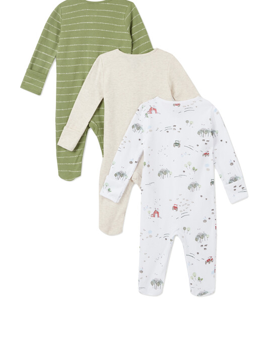 3Pack of  TRACTOR Sleepsuits image number 2