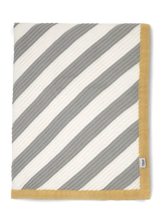 البطانية المعقودة - 70 × 90 - خطوط مائلة image number 2