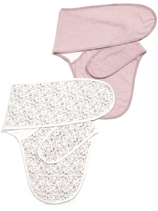 رداء النوم الملفوف بنقشة الورود (عبوة بها قطعتان) - باللون الوردي image number 1