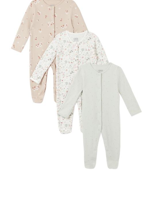 3Pack of  DITSY FLRL Sleepsuits image number 1