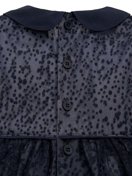 فستان مناسبات المنقط باللون الأزرق البحري: image number 3