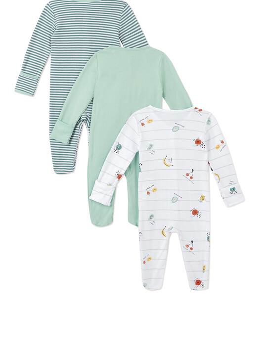 3Pack of  FRUIT SLEEPSUITS image number 2