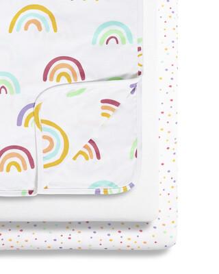 SnuzPod - 3pc Crib Bedding Set - Colour Rainbow (N)