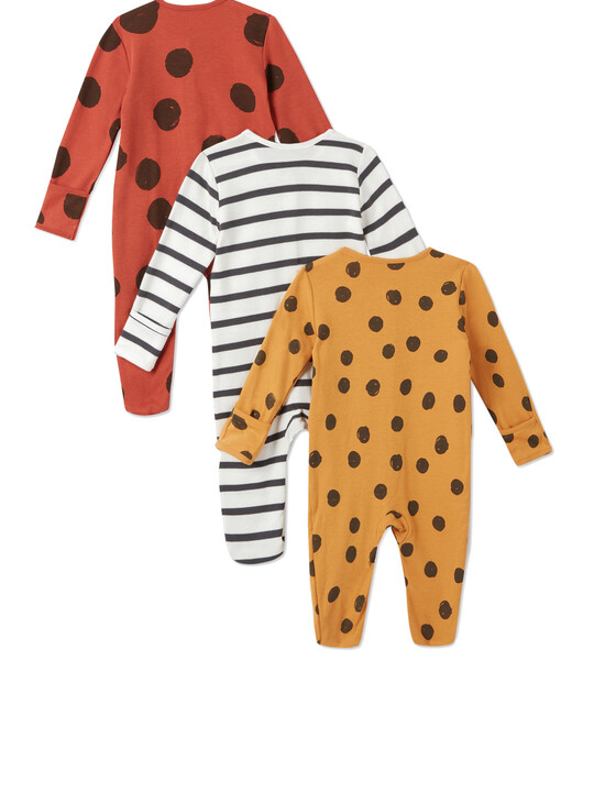 3Pack of  LARGE SPOT Sleepsuits image number 2