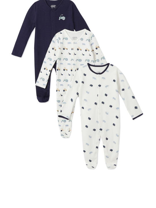 3Pack of  FARM Sleepsuits image number 1