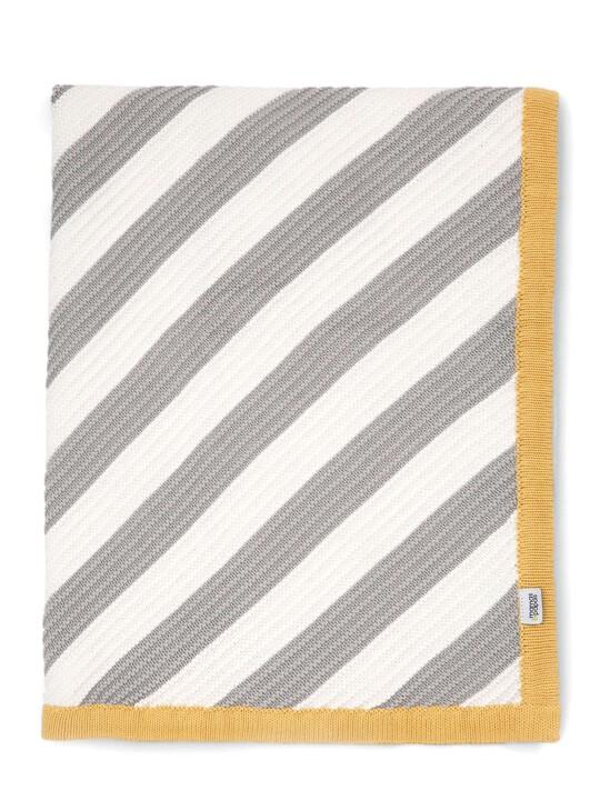 البطانية المعقودة - 70 × 90 - خطوط مائلة image number 1