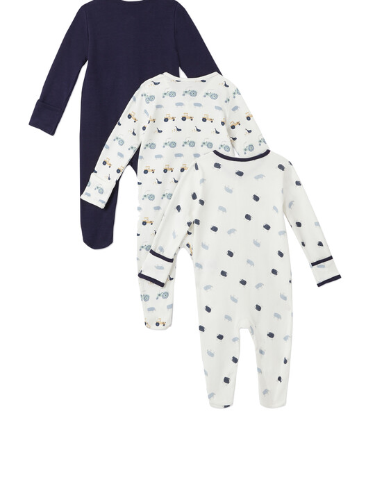 3Pack of  FARM Sleepsuits image number 2