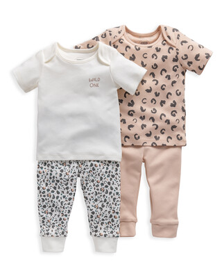 Animal Print Jersey Pyjamas 2 Pack