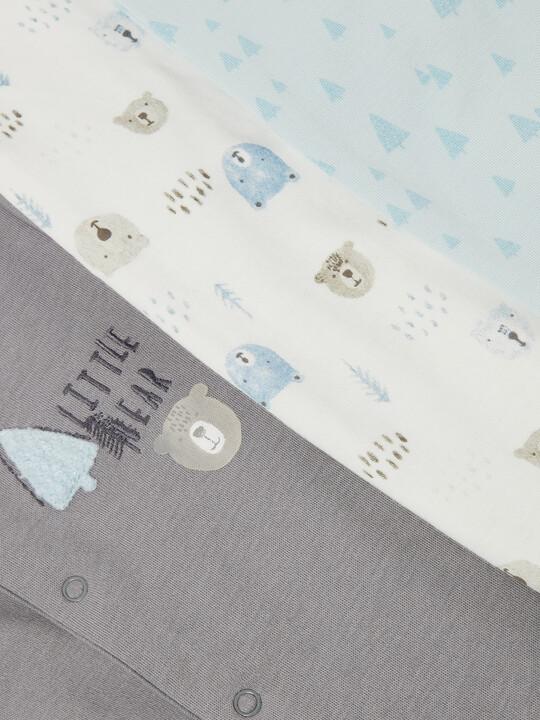 3Pack of  BEAR & TREE Sleepsuits image number 3