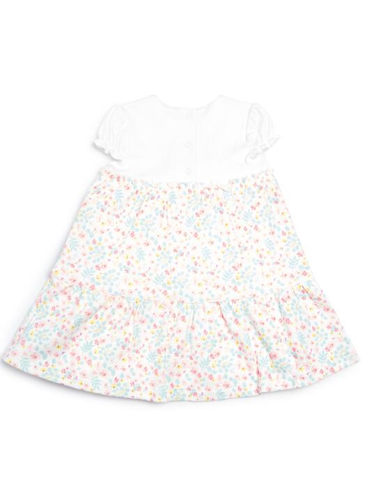 فستان مطبوع متعدد الطبقات image number 2