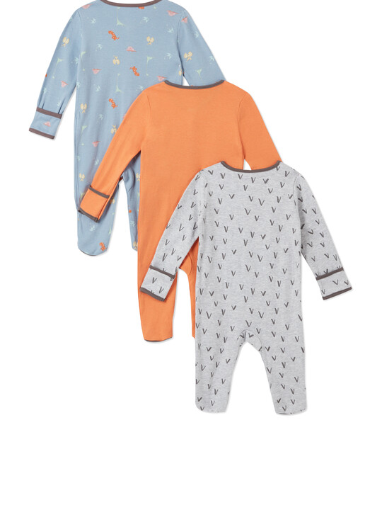 3Pack of  DINO Sleepsuits image number 2