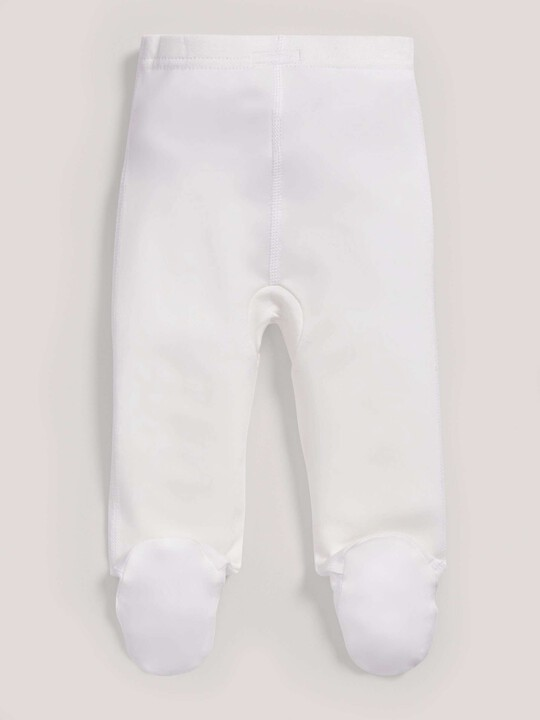 سراويل قماش البامبو الرقيقة باللون الأبيض image number 2