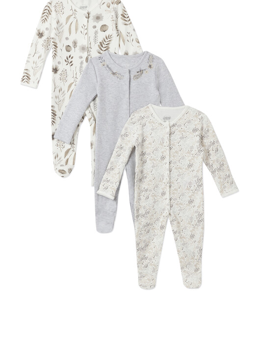 3Pack of  MONO FLWR Sleepsuits image number 1