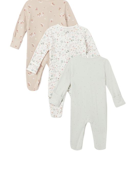 3Pack of  DITSY FLRL Sleepsuits image number 2