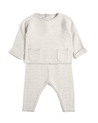 Striped Knitted Set - 2 Piece