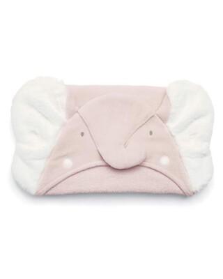 منشفة بغطاء للرأس بتصميم فيل وردي
