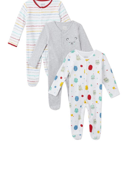 3Pack of  BEAR Sleepsuits image number 1