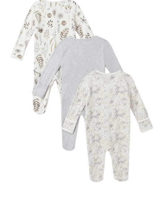 3Pack of  MONO FLWR Sleepsuits image number 2