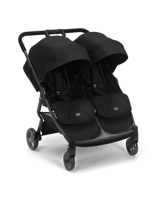 عربة أطفال أرماديللو مزدوجة قابلة للطي - أسود image number 1