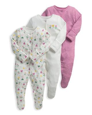 Modern Floral Sleepsuits 3 Pack
