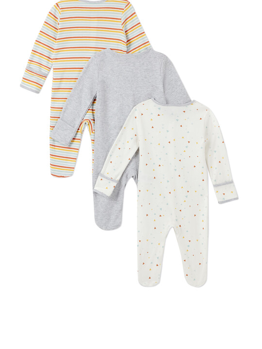 3Pack of  SHAPES Sleepsuits image number 2