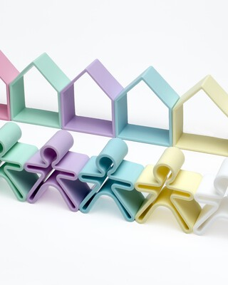 Dena 6 Kids + 6 Houses Pastel